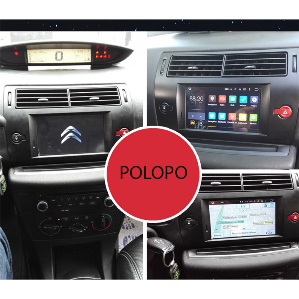 Car Audio Media player Android 9 OS with GPS navi bleutooth