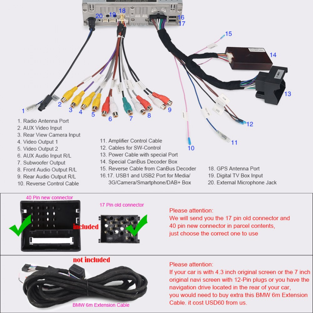 E46 Bmw 17 Pin Plug Wiring Free Download Diagram Subwoofer Car Audio Media Player Android 6 0 1 Os With Gps Navi Bleutooth Moreover